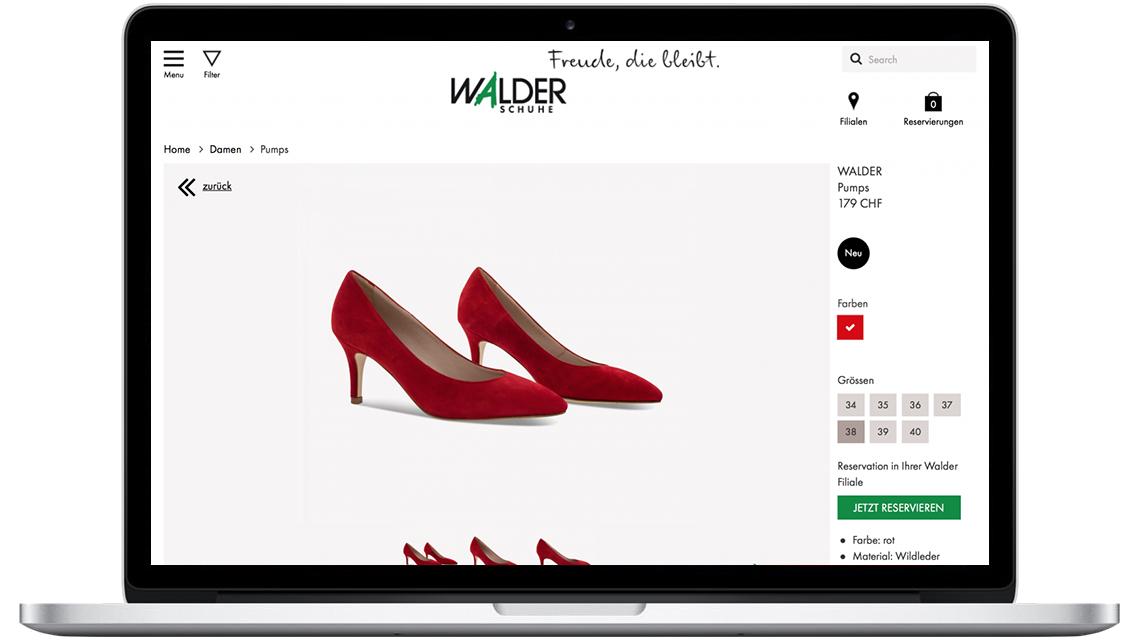 ff2a4542eddb73 Die neue Funktion auf der Walder-Website fügt sich nahtlos ein in die  Präsentation der aktuellen Kollektionen des Schweizer Schuhhauses.